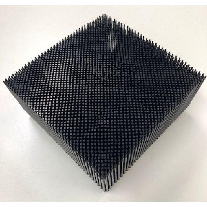 """92910001 Щетинистый квадрат черный BRISTLE 1.6"""" POLY - ROUND FOOT - BLACK"""