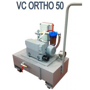 Ginev VC ORTHO 50 Мобильный вакуумный насос с баком 50 литров – расход 40 m3/h 400V / 50Hz Три фазы