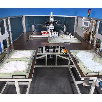 KSL KL 110 CNC Швейная установка для подушек безопасности