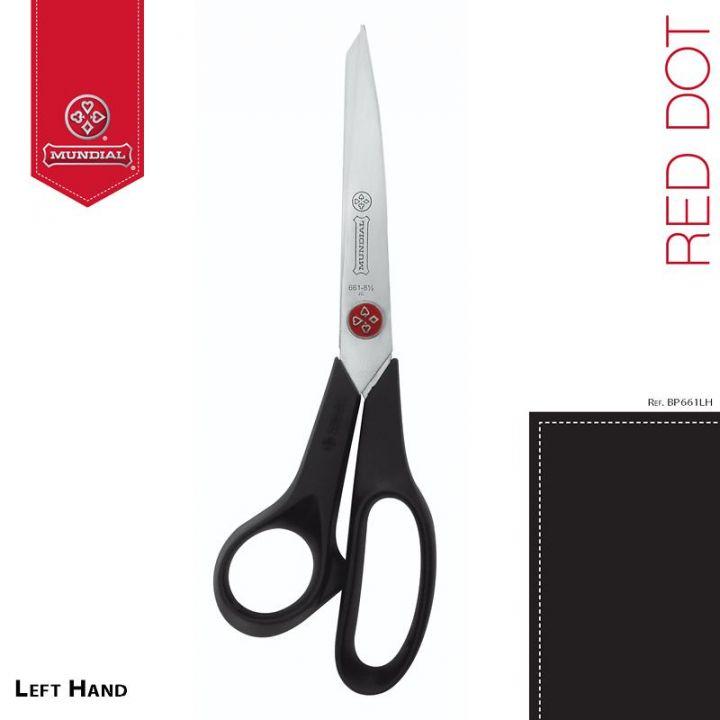 """MUNDIAL 661-8.1/2"""" RED DOT ножницы любительские для левшей"""