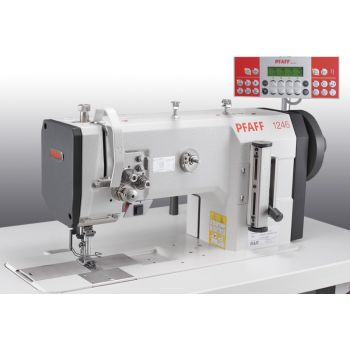 PFAFF 1246-6/01 Двухигольная швейная машина челночного стежка с плоской платформой с тройным транспортом