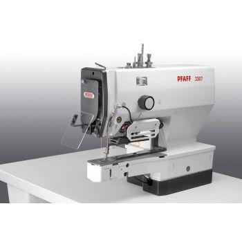 PFAFF 3307-4/01 Полуавтомат однониточного цепного стежка для пришивания плоских пуговиц с электронным управлением.
