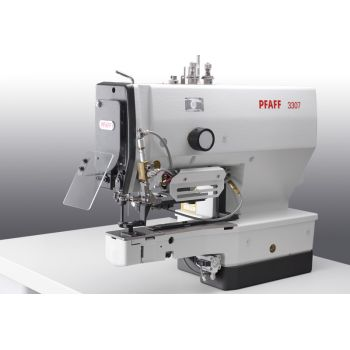PFAFF 3307-5/02 Полуавтомат однониточного цепного стежка для пришивания плоских пуговиц с электронным управлением.