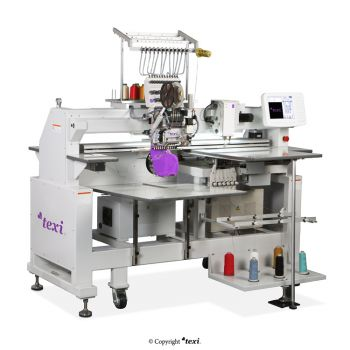TEXI 1201 TS PREMIUM CH+TS+C SET 12-needle embroidery machine with a base with accessories for sewing sequins and strings and an additional head with chanille function