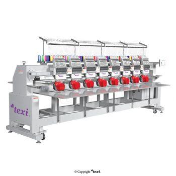 TEXI 1208 TS PREMIUM LARGE 8-головочная, 12-игольная вышивальная машина со станиной, увеличенное поле вышивки