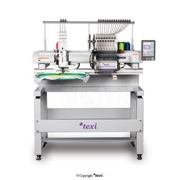 TEXI 1501 TS PREMIUM R SET 15-needle embroidery machine with base and head for sewing the ribbon