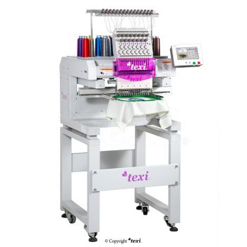 TEXI 1501 TS PREMIUM S+C SET Embroidery machine, single-head, 15-needle with a base and the tooling of suspending sequins from a tape and sewing a cord