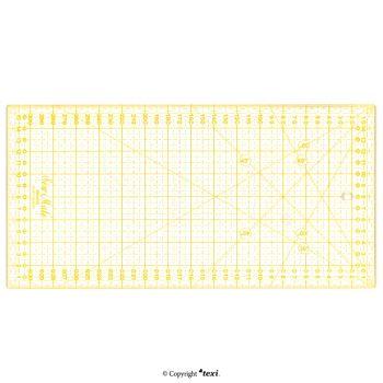 TEXI 4067 Линейка для пэчворка и квилтинга, 160x320 мм, сантиметровая шкала, жёлтая