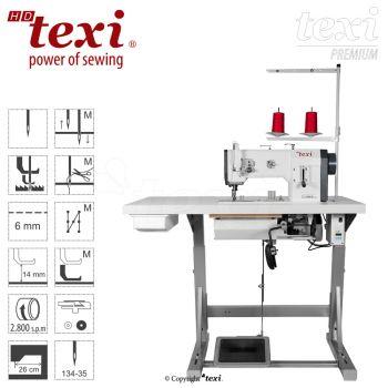TEXI HD FORTE-B UF PREMIUM Прямострочная швейная машина - окантовочная с тройным транспортом, серводвигателем, большим челноком - комплект