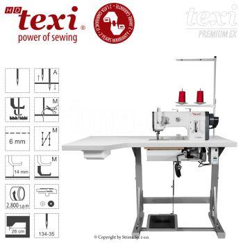 TEXI HD FORTE-B UF PREMIUM XL Прямострочная швейная машина - окантовочная с тройным транспортом, большим челноком - комплект с увеличенной столешницей, 2 года гарантии
