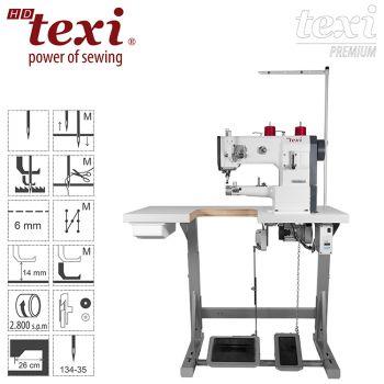 TEXI HD FORTE CILINDRO-B UF PREMIUM Цилиндрическая швейная машина для окантовки - обивочная, кожевенная с тройным транспортом и серводвигателем