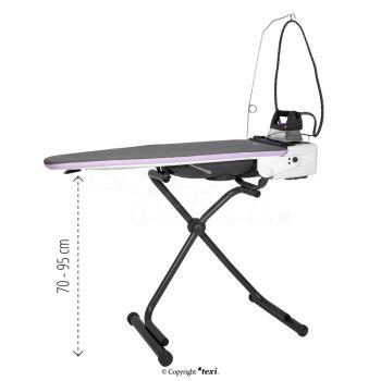 TEXI HESTIA Гладильный стол с автоматическим встроенным парогенератором и утюгом - антиглянцевая подошва и бутылка для воды БЕСПЛАТНО!