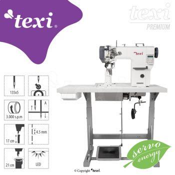 TEXI POST DD PREMIUM Колонковая прямострочная швейная машина с продвижением материала нижним роликовым, игольным – комплект