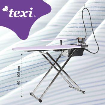 TEXI SMART SB Гладильный стол с автоматическим парогенератором, утюгом и интеллигентным программированием времени работы турбины