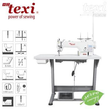 TEXI WALKER WF AUT PREMIUM Автоматическая прямострочная швейная машина c нижним транспортом и шагающей лапкой, большим челноком - комплект
