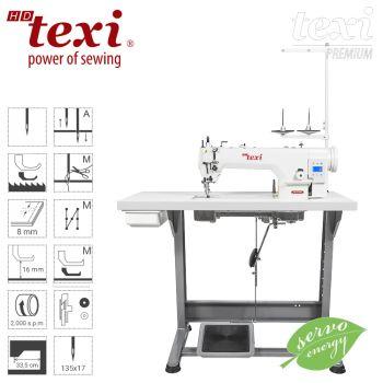 TEXI WALKER WF SERVO PREMIUM Прямострочная швейная машина - обивочная, кожевенная, c нижним транспортом и шагающей лапкой, большим челноком – комплект