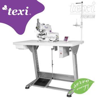TEXI X PREMIUM Пуговичная машина с электронным выбором количества стежков и встроенным серводвигателем - комплект