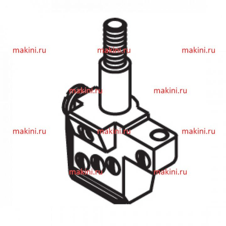 12-8080 игольный зажим Kwokhing двухигольный 4.8 мм