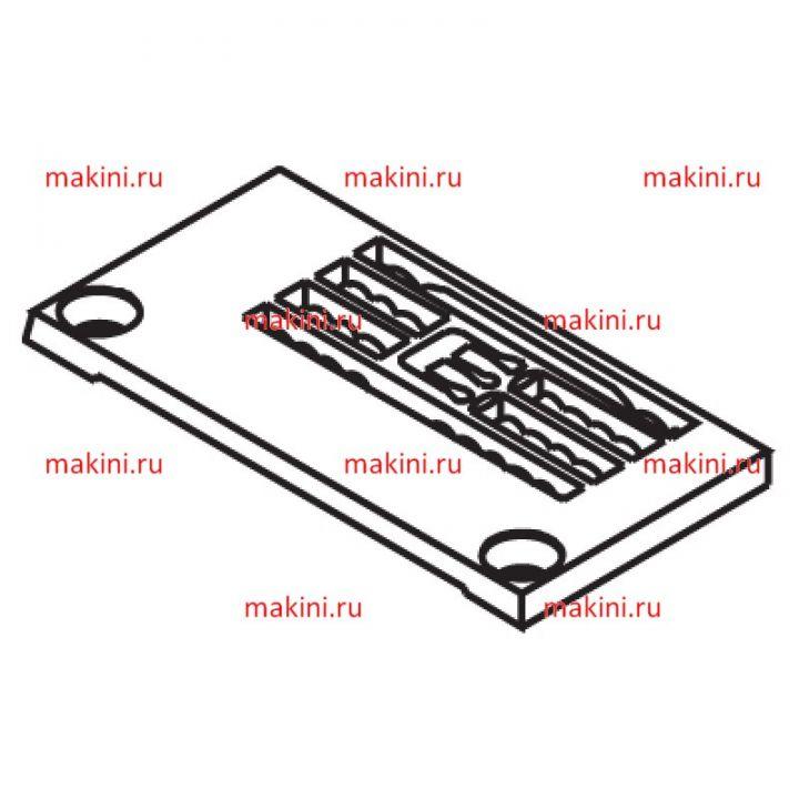 14-724 игольная пластина Kwokhing двухигольная 3.2 мм