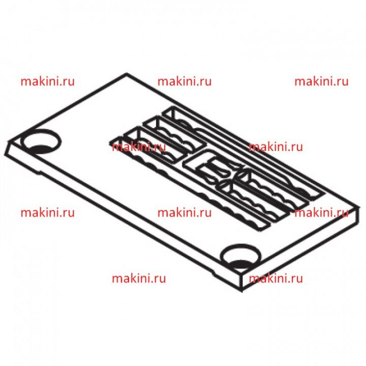 14-819 игольная пластина Kwokhing трехигольная 6.4 мм