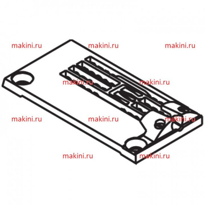 14-864 игольная пластина Kwokhing трехигольная 6.4 мм