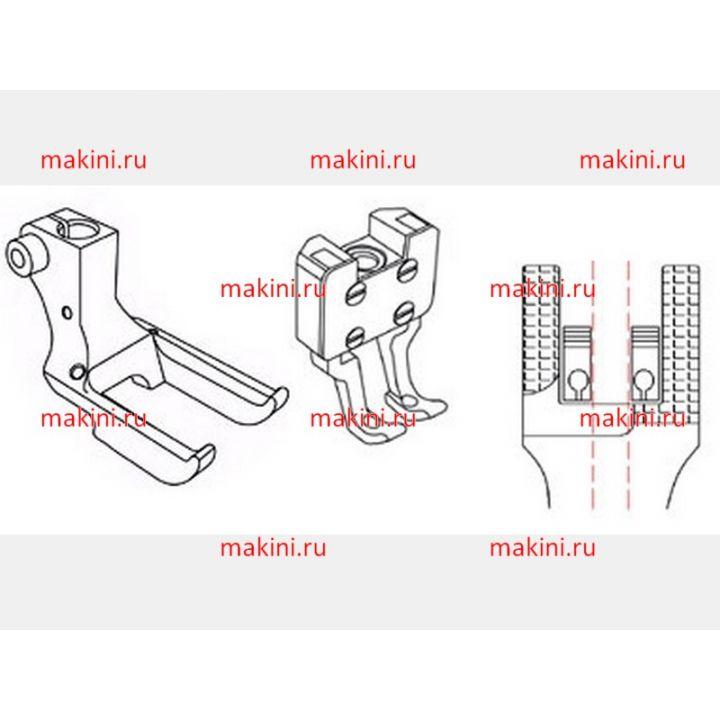 KP768-MI Комплект лапок для вшивания шнура для двухигольной машины KP768-MI (Kwokhing, Гонконг)