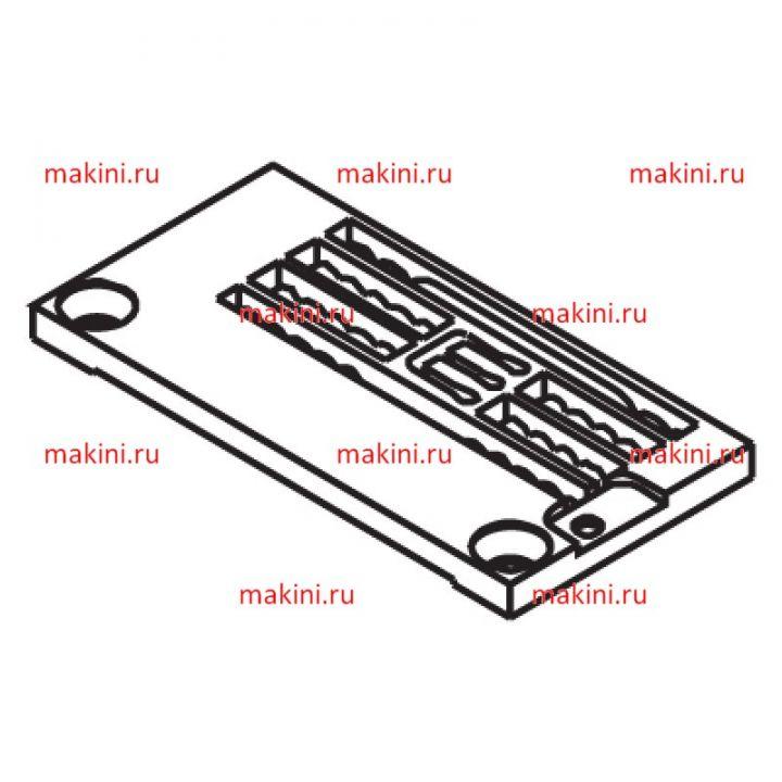 Y3508000 игольная пластина Kwokhing двухигольная 3.2 мм