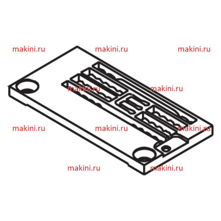Y3508004 игольная пластина Kwokhing трехигольная 6.4 мм
