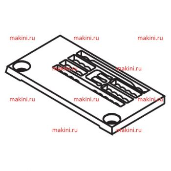 Y94802 игольная пластина Kwokhing трехигольная 6.4 мм