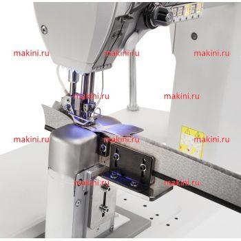 Habraken HM 606 швейная машина для прокладывания двухигольной отделочной строчки на автомобильных сиденьях с одновременным притачиванием ритайнеров